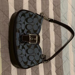 Dark blue Coach mini purse